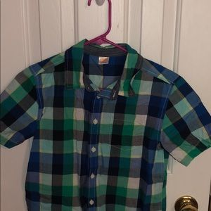 Gymboree light colored plaid short sleeve polo!